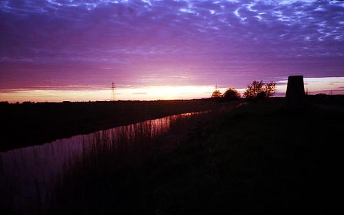 camera light sunset sky sun color colour fall film water 35mm dusk norfolk olympus xa2 xa agfa fens compact eastanglia fenland wisbech poundland downhammarket agfaphoto zonefocus vistaplus200 anaslogue