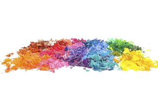 Rainbow of Crayon Shavings | by rgirardin