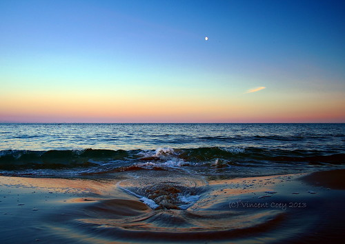 county ireland sunset sea irish moon beach water flow sand nikon waves tide horizon wicklow ebb d5100
