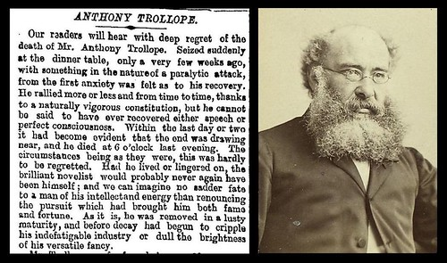 6th December 1882 - Death of Anthony Trollope | by Bradford Timeline