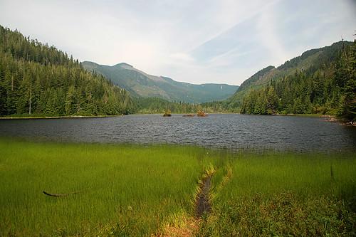 Three Isle Lake near Port Alice, Neroutsos Inlet, Vancouver Island, British Columbia, Canada