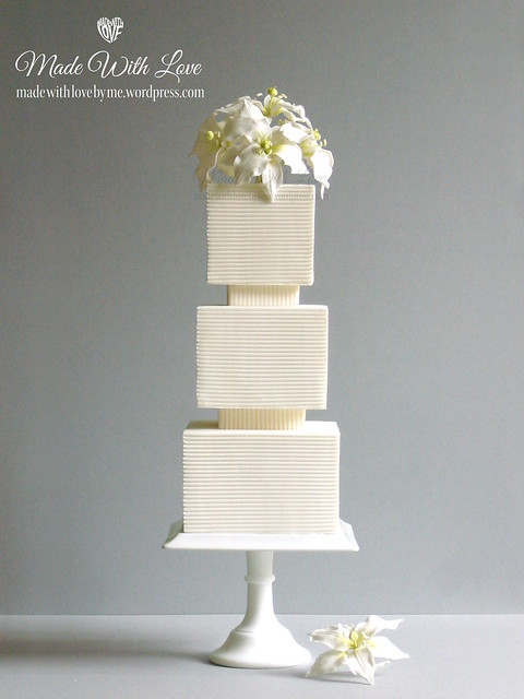 Lilies and Lines Cake