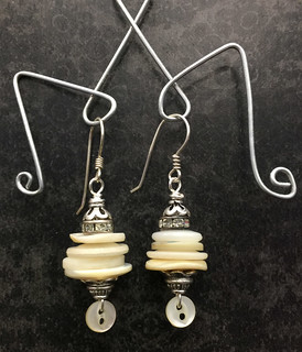 button stack earrings