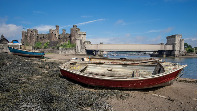 Conwy Castle And Bridge ... Wales