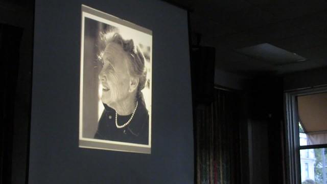 MVI_9009 Sydney Baumgartner does Elizabeth Deforest landscape 1982 talk Smithsonian 1926 glass slides 41s