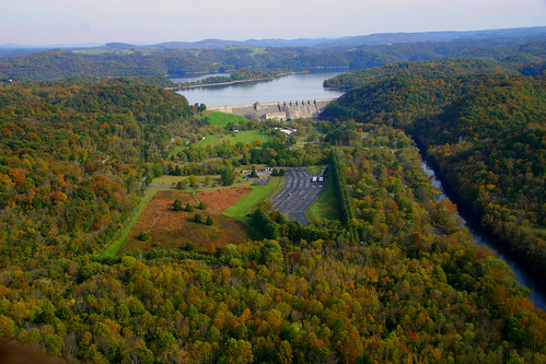 Dale Hollow National Fish Hatchery from the air. | by USFWS/Southeast