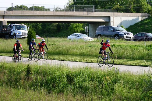 Bike to work riders near US Route 422 | by Montgomery County Planning Commission
