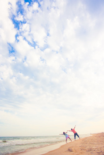 blue sea sky love beach fun fly jump sand couple gulf florida minimal stgeorgeisland