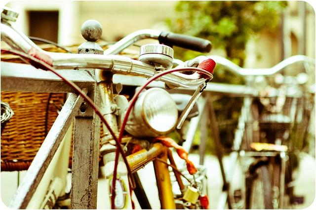Concentrato di bicicletta.