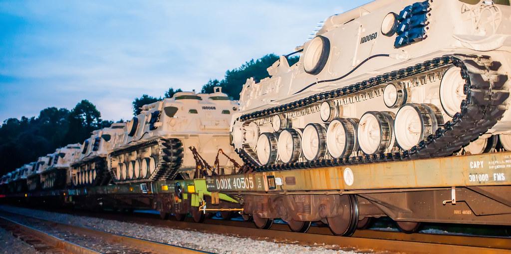 usa military tanks on train cars | I Buy my Art I DigiDreamG… | Flickr
