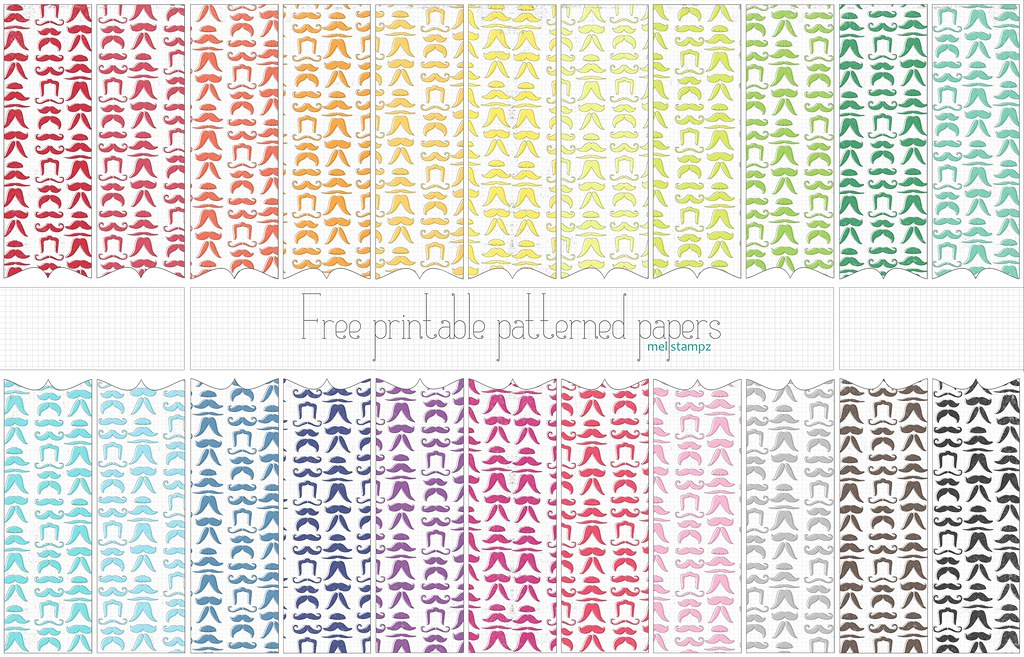 photo relating to Printable Patterned Paper named mustache papers - absolutely free printable electronic patterned paper s