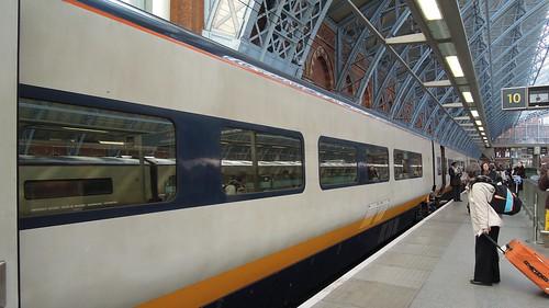 Eurostar to Paris Nord, Platform 10, St Pancras International, London   by David McKelvey