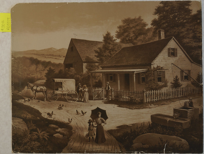 RD3379 The Old Homestead by McLoughlin Bros. N. Y. © 1903 DSC04957
