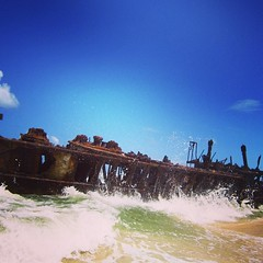 Shipwreck! #fraserisland #shipwreck #maheno #australia #oz #beach #ocean #mahenoshipwreck #seeaustralia #exploringaustralia #photooftheday