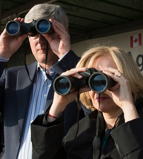 Hula Valley, Israel – Prime Minister Stephen Harper and his wife Laureen visit the site of the future Stephen J. Harper Hula Valley Bird Sanctuary Visitor and Education Center.   by PM Stephen Harper