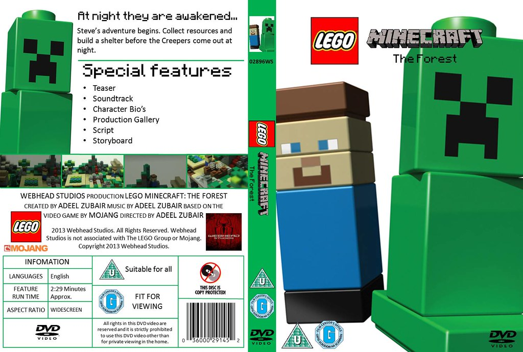 LEGO Minecraft - Episode 1: The Forest - DVD Cover | Flickr