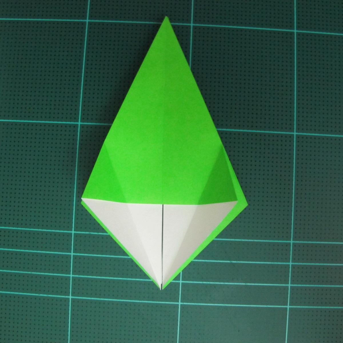 วิธีพับกระดาษเป็นจรวด X-WING สตาร์วอร์ (Origami X-WING) 015