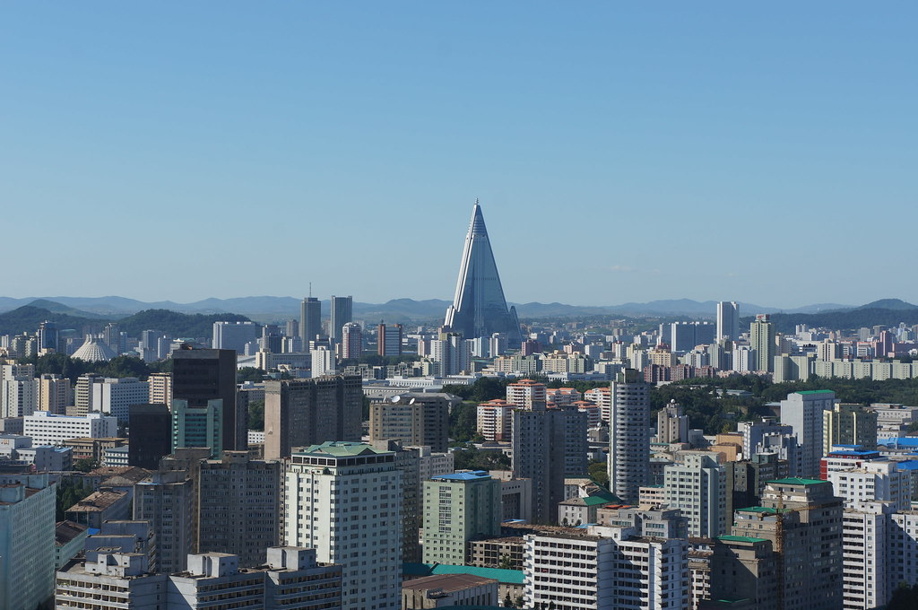 Pyongyang City - Ryugyong Hotel in Background   Uri Tours   Flickr