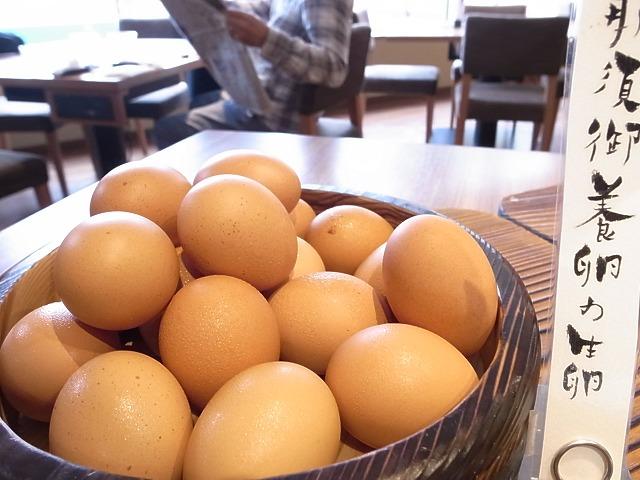 <p>那須御養卵を生のまま</p>
