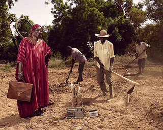 Katimou, a doctor, works in her vegetable garden on the weekends | by World Bank Photo Collection