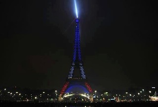 Eiffel Tower After Psg Won The League Title Yesterday Flickr