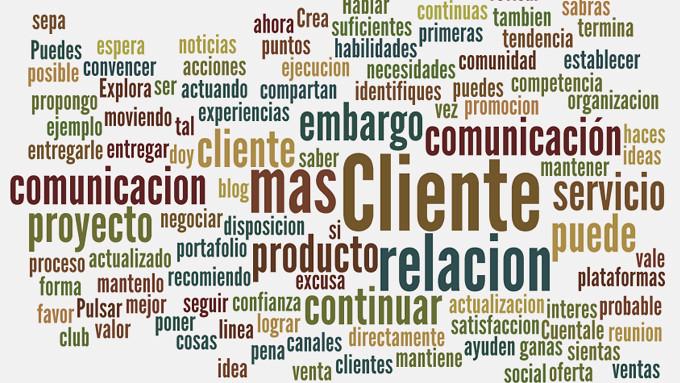 Relación con el cliente (nube de palabras)