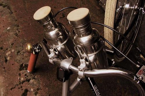 Edinburgh Harris Tweed Ride 2013 - nice shiny bottles