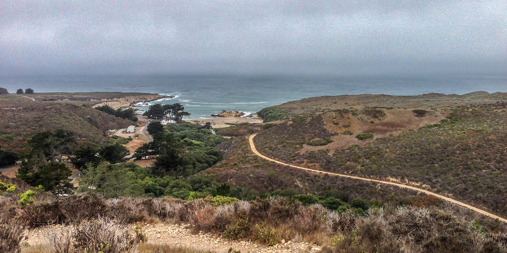 Spooners Cove and Ranch House on return from Oats Peak tra ...