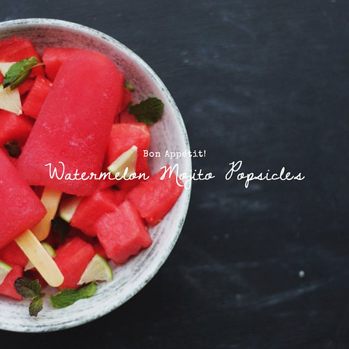 Watermelon Mojito Popsicles   by Morrie & Oslo