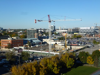 Toronto skyline and construction in the West Don Lands, 2013 10 09 (11) | by booledozer