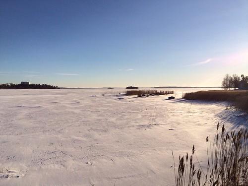winter sea sky sun snow nature suomi finland frozen frost day sunny clear vaasa vasa iphone vaskiluoto iphoneography chiarasirotti pwwinter