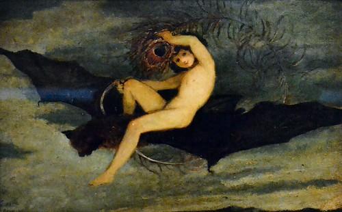 Joseph Severn (1793-1879) - Ariel - On the Bat's Wing I do Fly (1826) Victoria & Albert Museum, Feb 2014