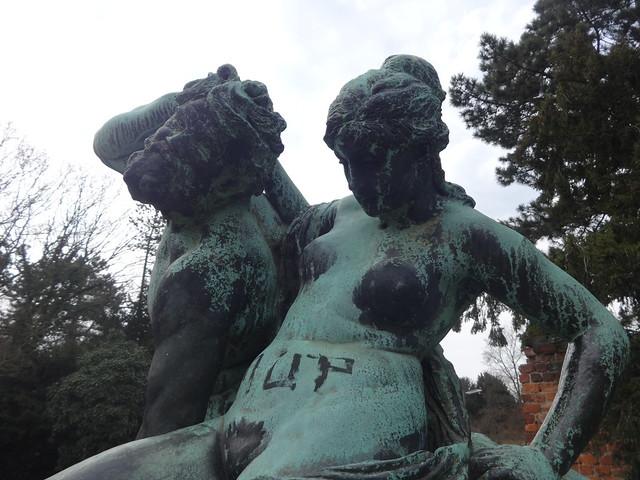 1881 Dessau Kentaur und Nymphe von Reinhold Begas Bronze Stadtpark Kavalierstraße in 06844
