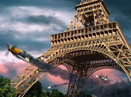 El vuelo de Overtstreet jr bajo la Torre Eiffel