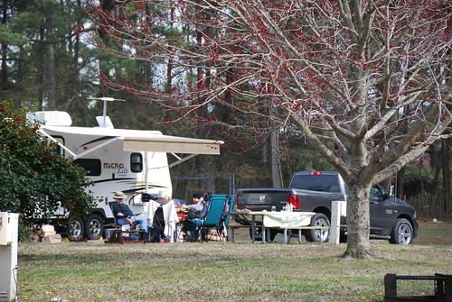 RV camping at Kiptopeke State Park - wintertime   by vastateparksstaff