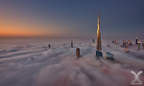 fog sunrise nikon dubai uae khalifa burj d800 nikkor1424mmf28