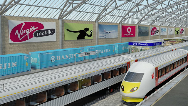 Virtual trains in a virtual station
