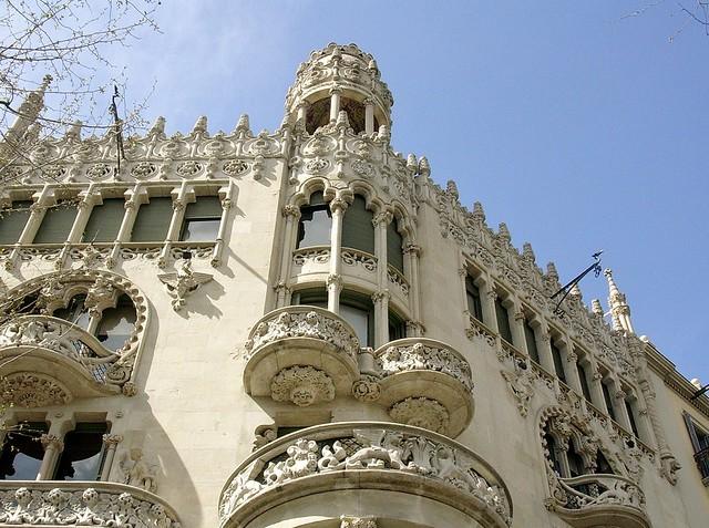 SPANIEN-Barcelona,  facade -   Casa Lleó Morera, de Lluis Domènech i Montaner, 71104/2992