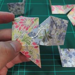การพับกระดาษเป็นรูปเรขาคณิตทรงลูกบาศก์แบบแยกชิ้นประกอบ (Modular Origami Cube) 019