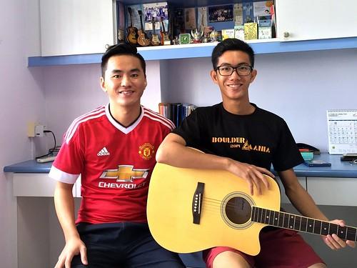 Private guitar lessons Singapore Adrian
