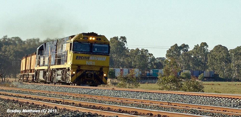 NR1-NR28 (IP) on 5SM2 to Melbourne at Dysart (9/5/2013) by Bradley Matthews