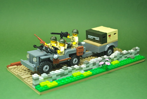 Willys MB Jeep with Bantam Trailer