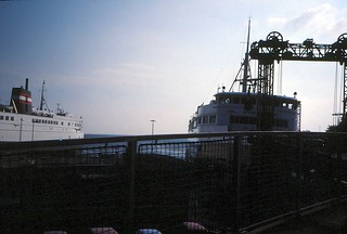 Denmark   -   Leaving Ferry at Halsskov    -   August 1985