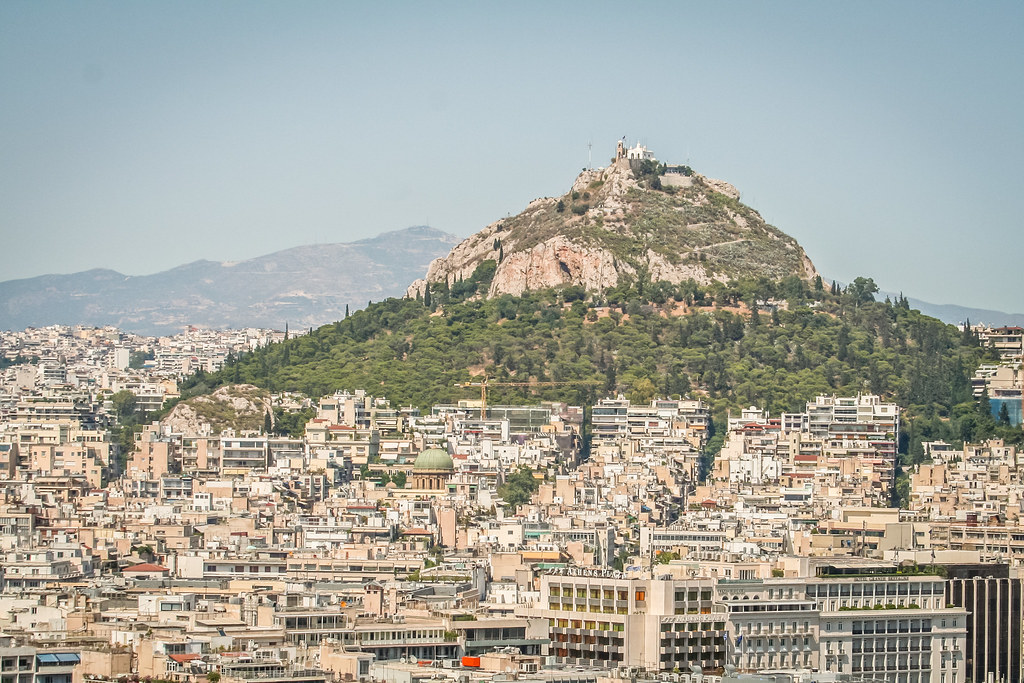 A view of Mount Lycabettus in Athens