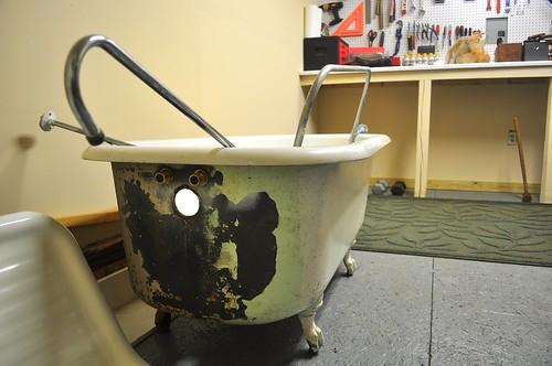 2012-01-09 Clawfoot bathtub strip and prep 02 | by ericdodds