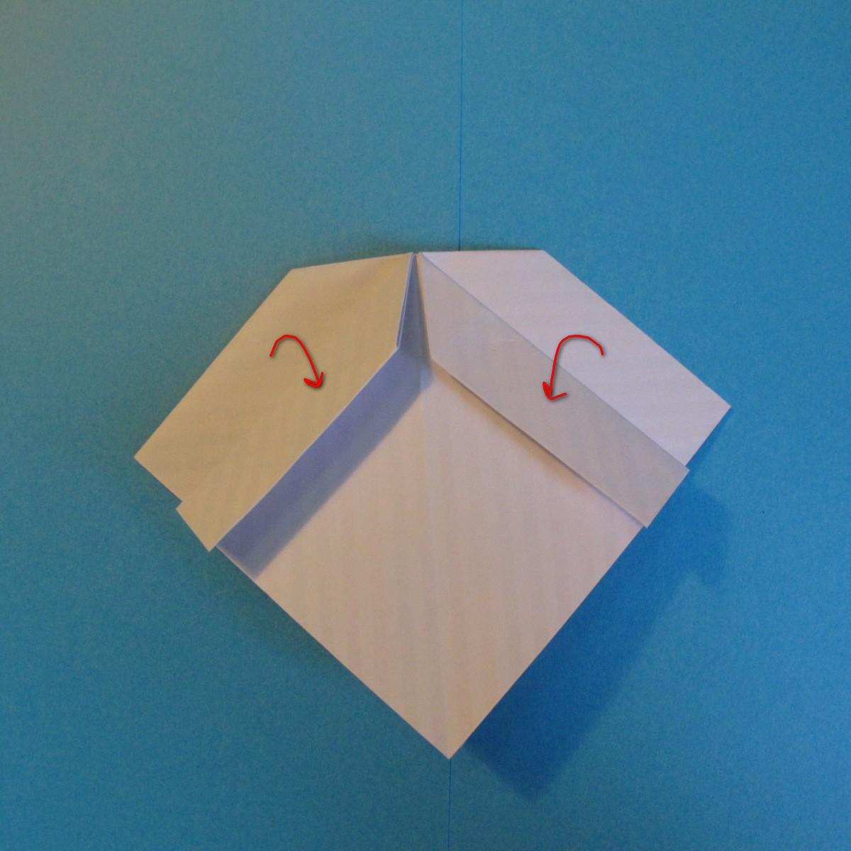 วิธีการพับกระดาษเป็นโบว์หูกระต่าย 011