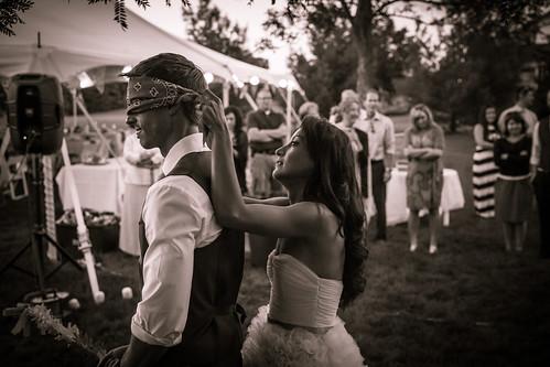 Bride Blindfolding Groom | by VBuckley.com