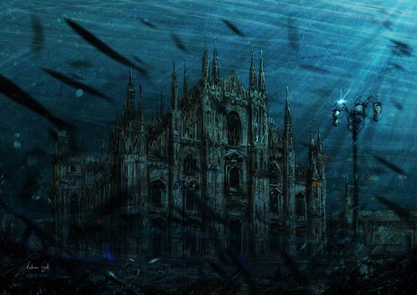 Underwater Milan Cathedral