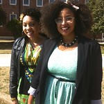 Dominique Smith welcoming Nastassja to Wesleyan College in Macon, GA