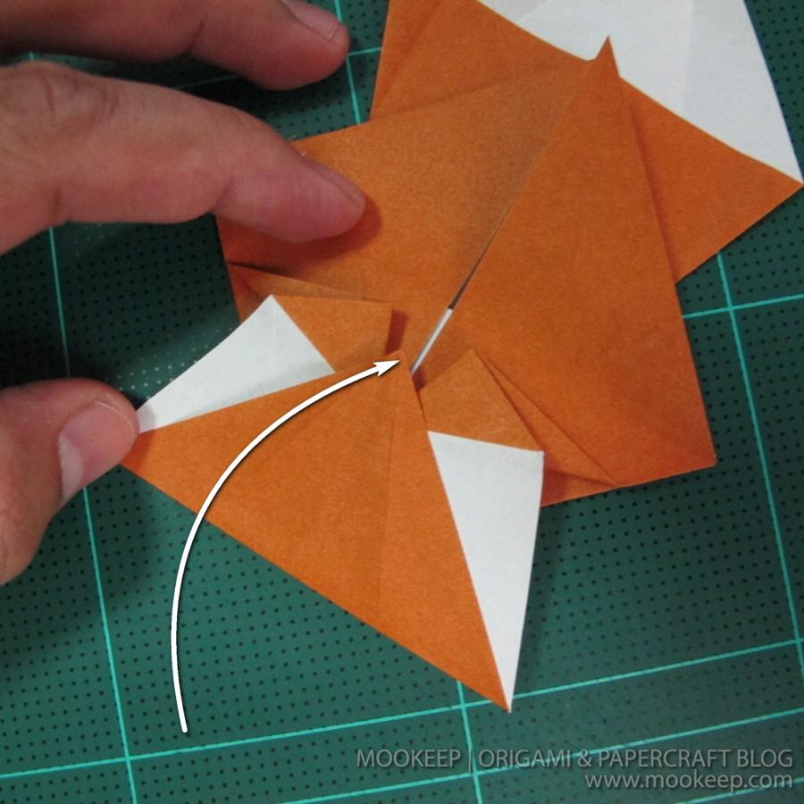 วิธีพับกระดาษเป็นรูปหมี (Origami Bear) 009
